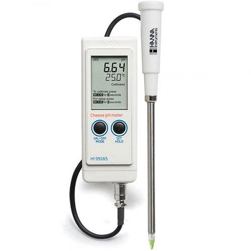 HI-99165 Portable pH/Temperature Meter for Cheese Analysis