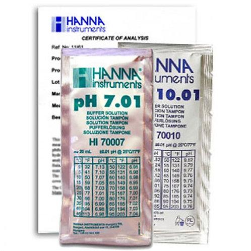 HI-770710C Combination Buffer Kit 10.01 & 7.01 pH 5 x 5 Sachets & Certificate of