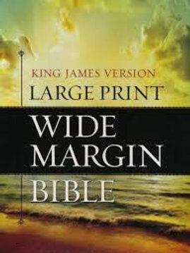 KJV Large Print Wide Margin Bible - Bonded Leather Blac