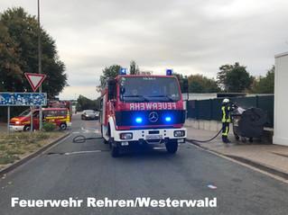 B0, Feuer Mülltonne, A2, Rastanlage Auetal Süd