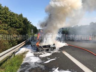 Feuer PKW, A2, Rehren -> Dortmund