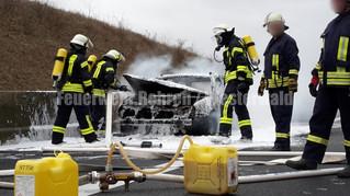 Feuer PKW, A2 Richtung Dortmund