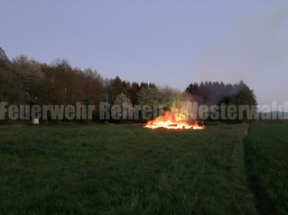 Kleinbrand, Westerwald, Westerwalder Straße, unklare Feuermeldung am Waldrand