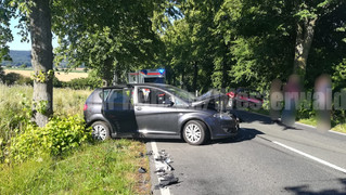 Verkehrsunfall, 1 eingeklemmte Person, L443, Rehren -> Schoholtensen