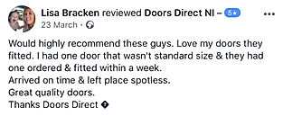 Cusomer review Doors Direct NI