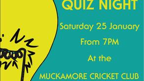 Big Quiz Night Saturday 25th January