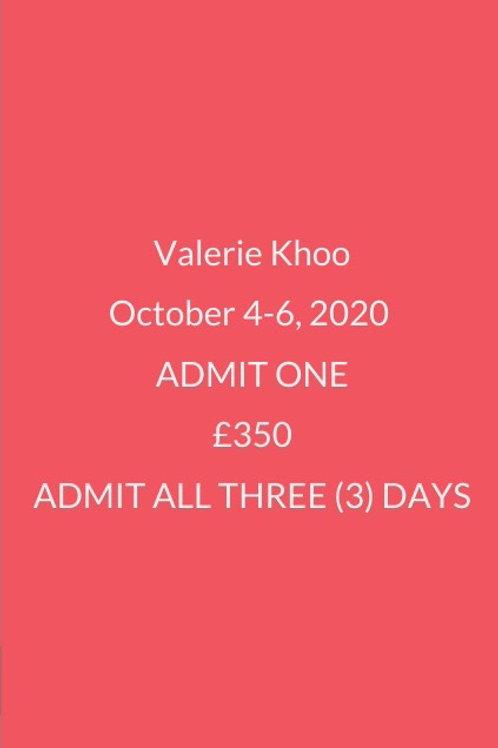3 DAY PASS VALERIE KHOO
