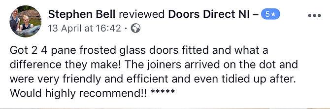 5 star review Doors Direct NI