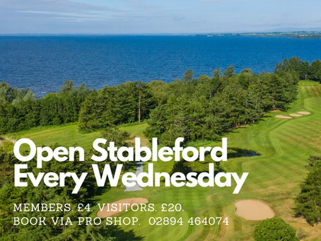 Open Stableford Every Wednesday