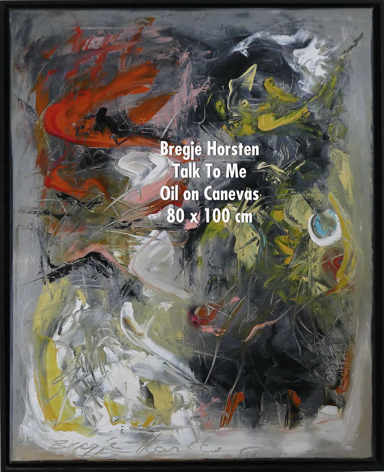 Bregje Horsten Talk To Me Oil on Canevas