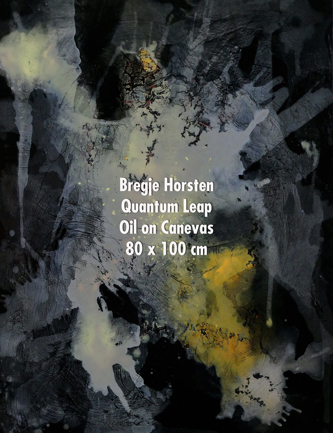 Bregje Horsten Quantum Leap Oil on Canev