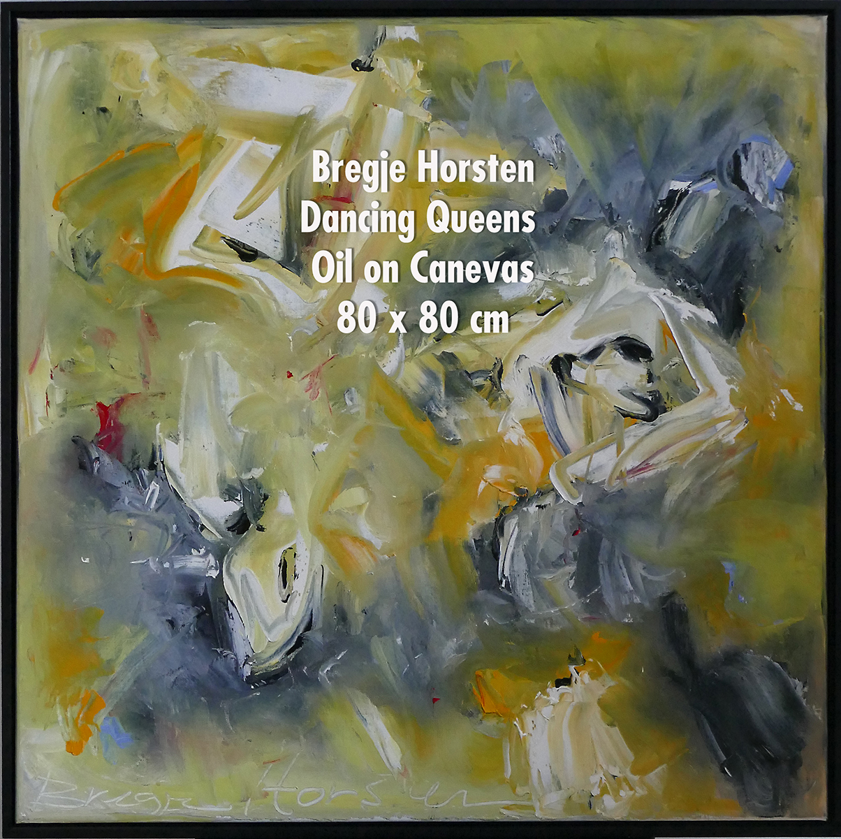 Bregje Horsten Dancing Queens  Oil on Ca
