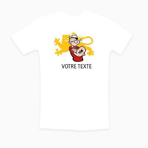 TEE-SHIRT BLANC MARIN NORMAND TEXTE AU CHOIX / CLASSIQUE/ FEMME / ENFANT