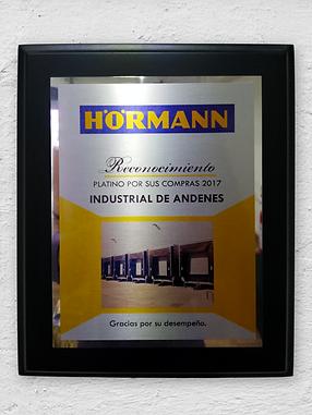 Reconocimiento Hormann 2017
