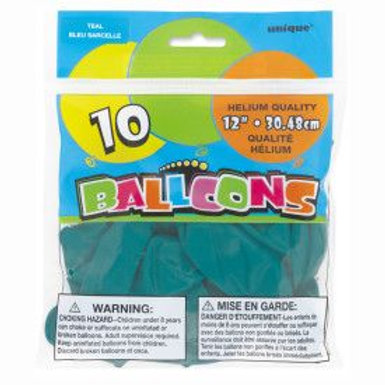 """Balloon Latex 12"""" Teal 10C"""
