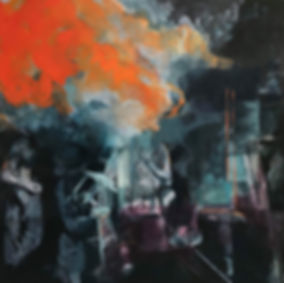 Coal Shed Oil on canvas 200 x 200 cm 201