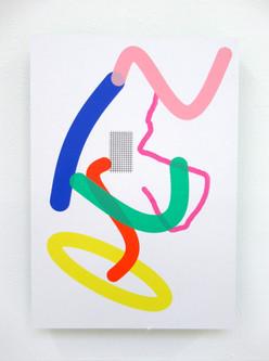 Composition 8 2019 Unique screenprint A3