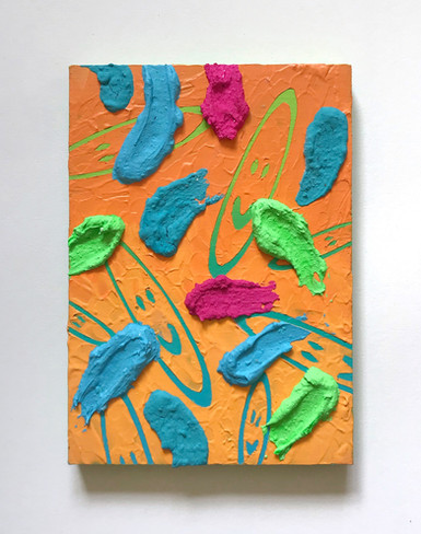 Untitled, mixed media on wood, 11 x 15.5cm