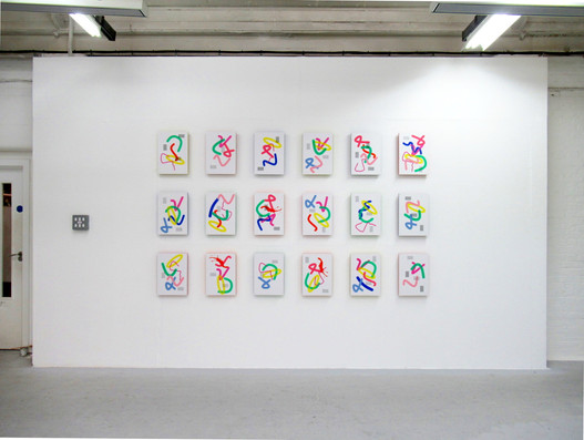 Compositions 1-18 2019 Unique screenprints A3
