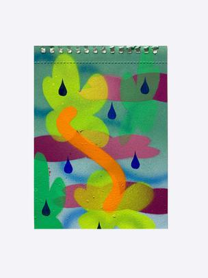 Series II – 3, 2020, acrylic on watercolour paper, 19 x 13.5cm