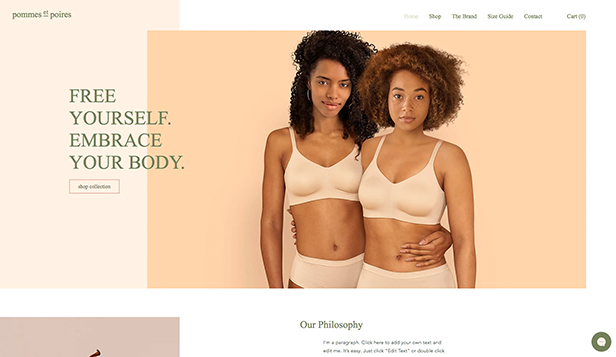 Mode och accessoarer website templates – Lingerie Boutique