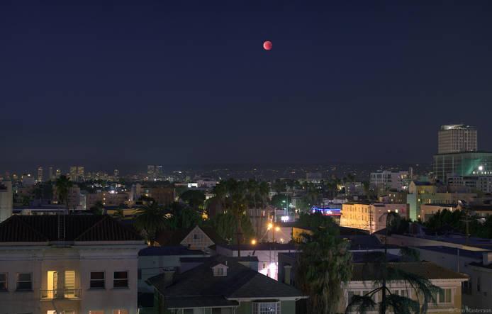 Lunar Eclipse Panorama 1/31/2018