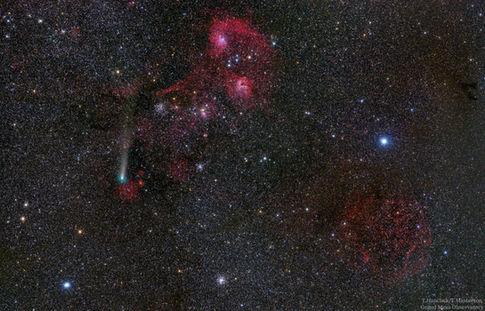 Comet 21P in Auriga