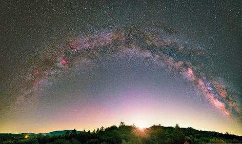 Moonrise Over Lockwood Valley, CA