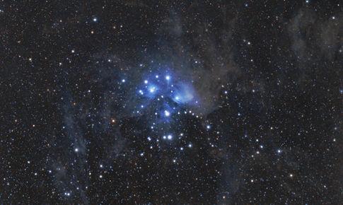 Dusty Pleiades, M45 from 8/22/2015