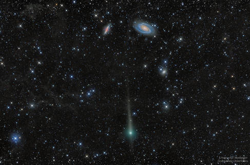 Comet C/2017 T2 PanSTARRS Passes by Galaxies M81 and M82