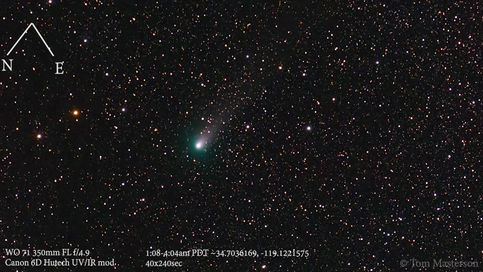 Time-lapse of Comet 21P/Giacobini-Zinner From  8/17/2018 1:08 to 4:04 a.m. PDT