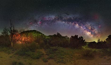 Milky Way over Mesa Verde National Park