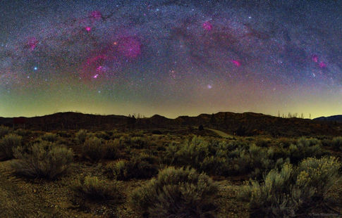 Winter Milky Way Over Los Padres National Forest