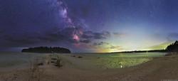 Cana Island and Spike Horn Bay Night