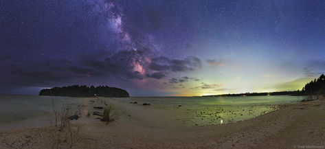 Cana Island and Spike Horn Bay Nightscape