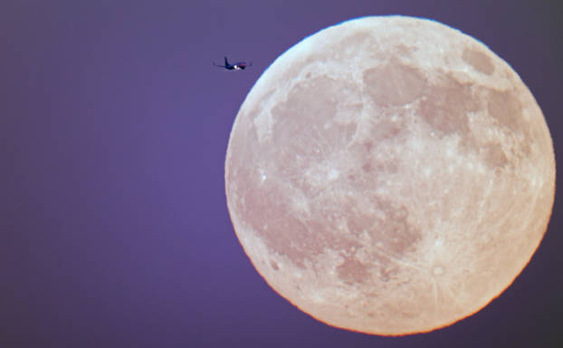 Plane Trip to the Moon