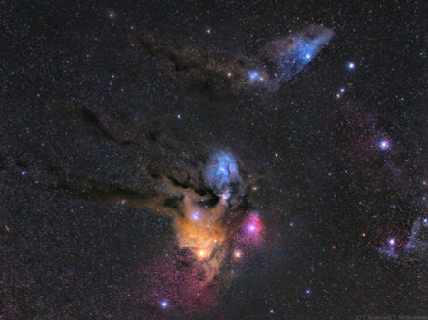 Rho Ophiuchi and the Blue Horsehead