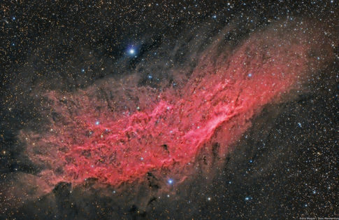 Glowing Red California Nebula NGC 1499 Collaboration