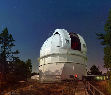 Outside the 100in Hooker Telescope, Mount Wilson Observatory, CA