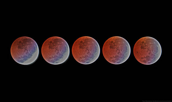Lunar Eclipse 4/4/2015 from 4:30-5:10 PDT