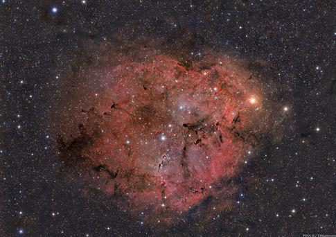 IC 1396, Elephant's Trunk Nebula Deep Field POSS-II Combo