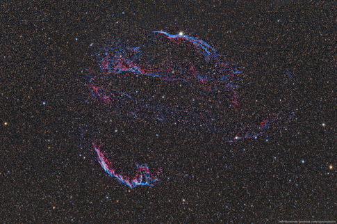 The Entire Veil Nebula from 7/18/2015