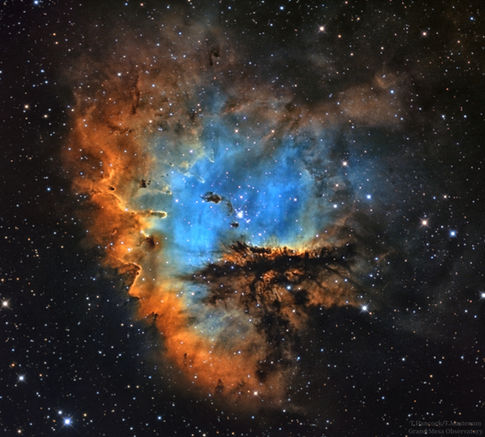 Pacman Nebula NGC 281 in Narrowband