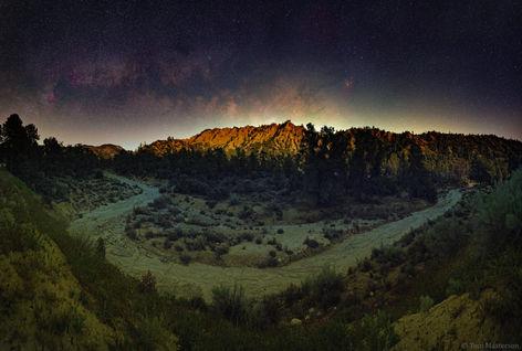 Milky Way Rising as the Moon Sets
