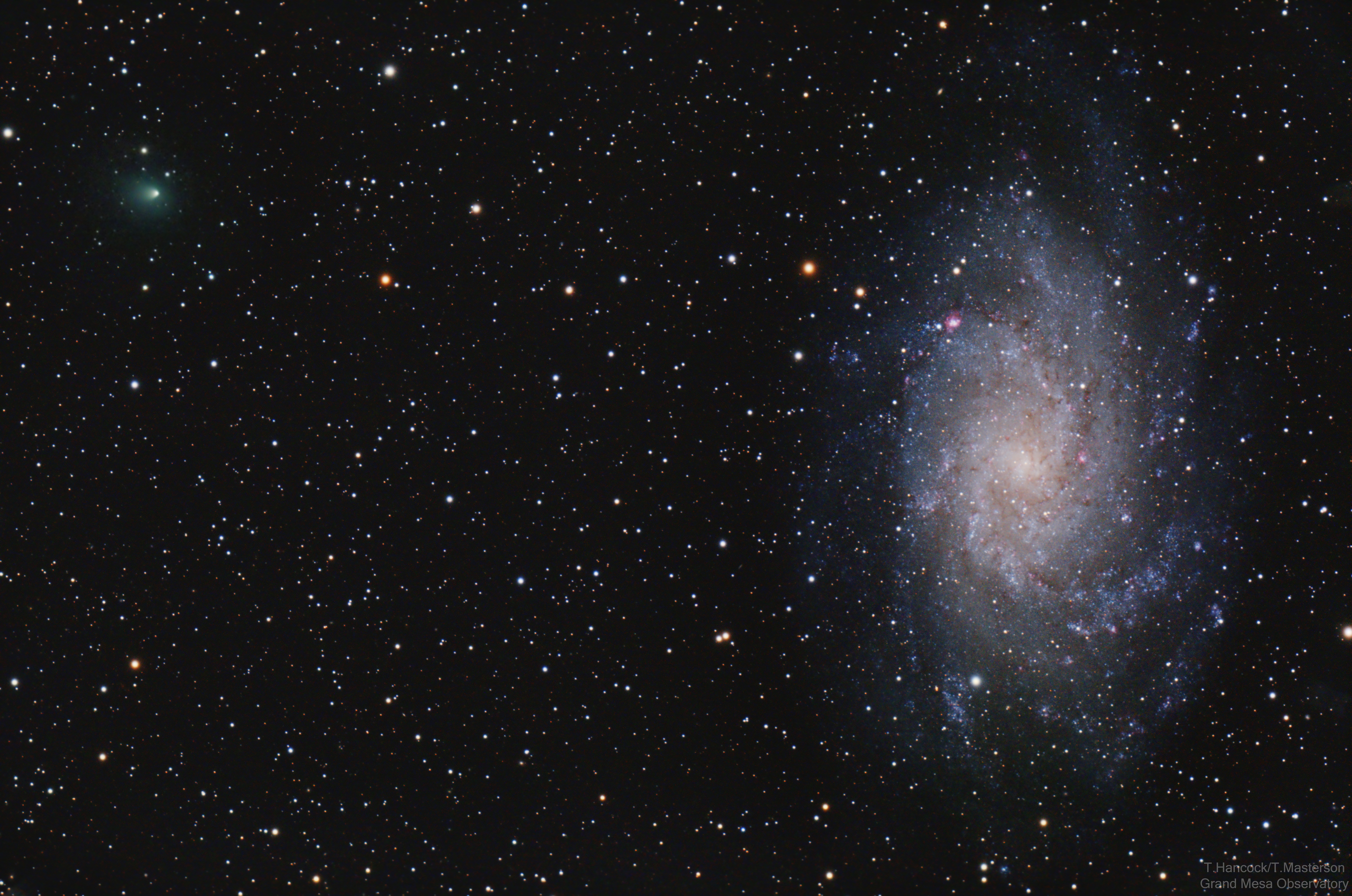 Triangulum Galaxy and Comet 156P/Russell