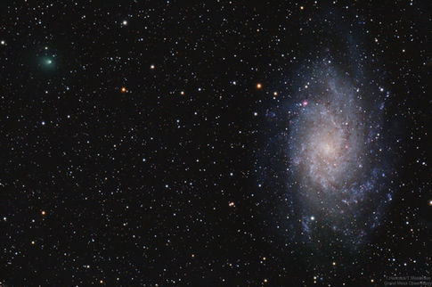 Triangulum Galaxy and Comet 156P/Russell-LINEAR