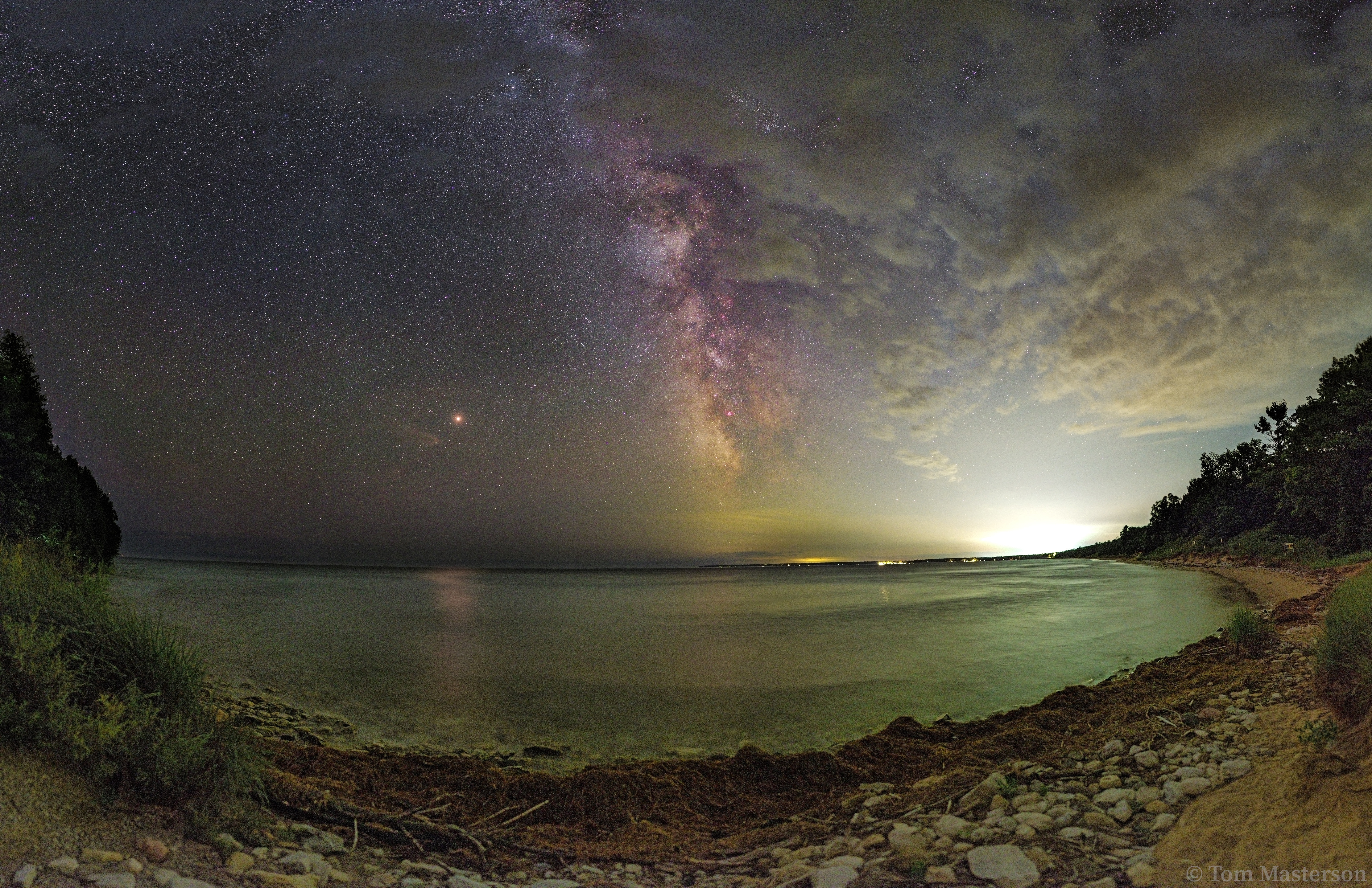 Mars and The Milky Way Above Whitefi