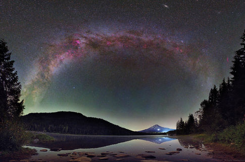 Trillium Lake Night Sky