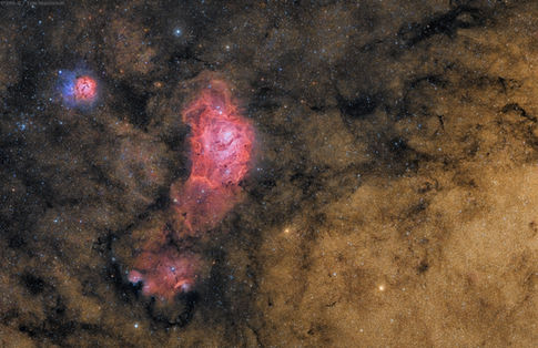 Nebulae and Star Clouds of Sagittarius DSS-II Combo