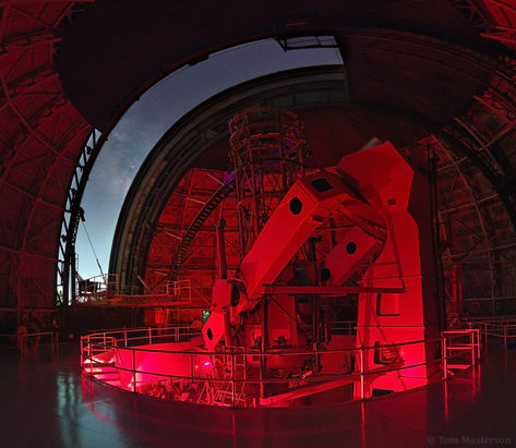 Inside the 100in Hooker Telescope Dome, Mount Wilson Observatory, CA